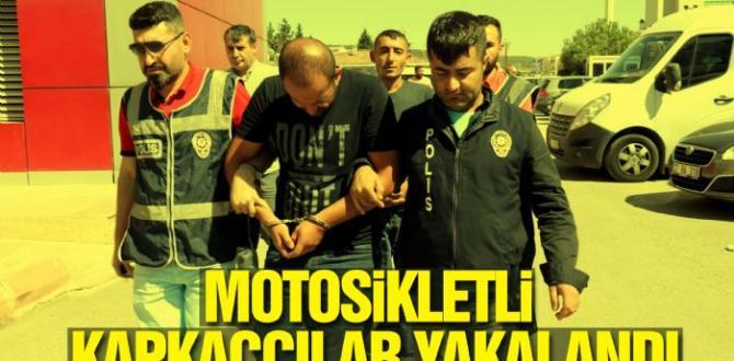 Motosikletli Kapkaççılar Yakalandı