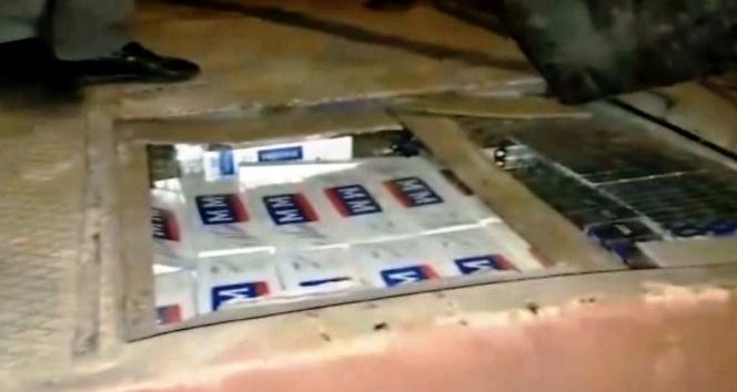 Gaziantep'te 43 bin paket kaçak sigara yakalandı