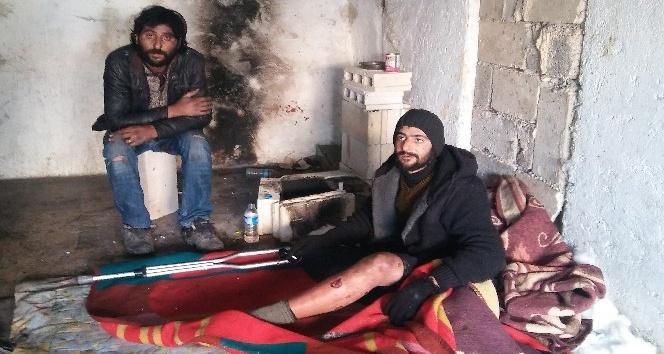 Harabe binadaki yaralı Suriyeli, terörist paniğine neden oldu