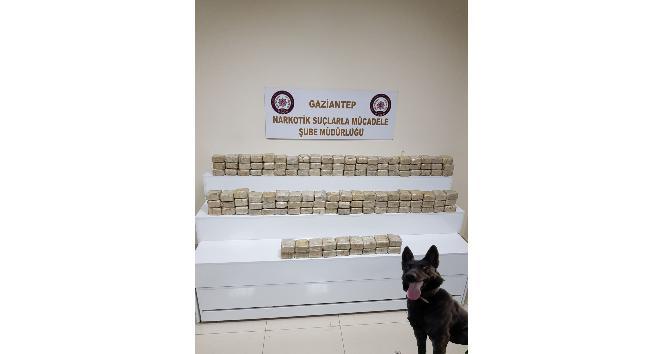 Gaziantep'te 72 kilo eroin ele geçirildi