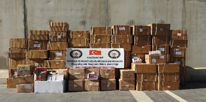 Gaziantep'te 526 bin 115 paket gümrük kaçağı ilaç ele geçirildi