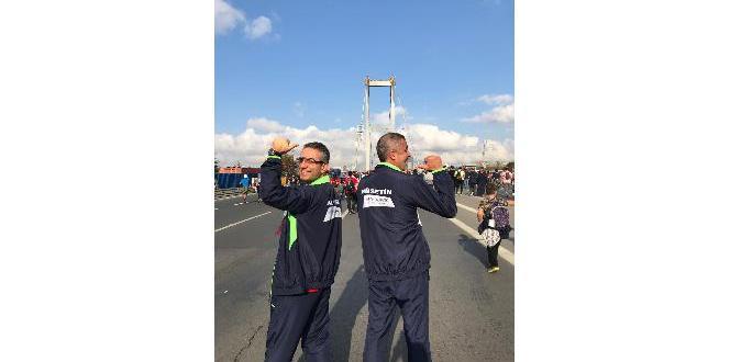 Doktor ve hastası maratonda ter döktü