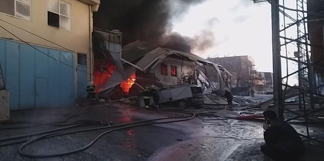Gaziantep sanayi sitesinde büyük yangın