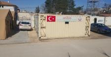 Suriye sınırında Sahra Hastanesinin kurulumu tamamlandı