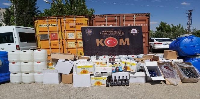 Gaziantep'te bin 500 litre sahte alkol ele geçirildi