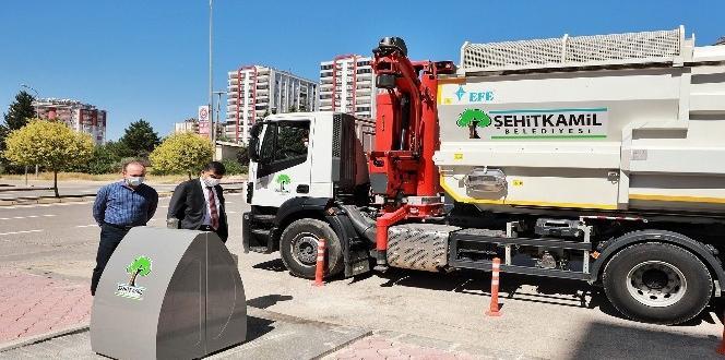 Şehitkamil'de çöpler, yeraltından toplanmaya başlandı
