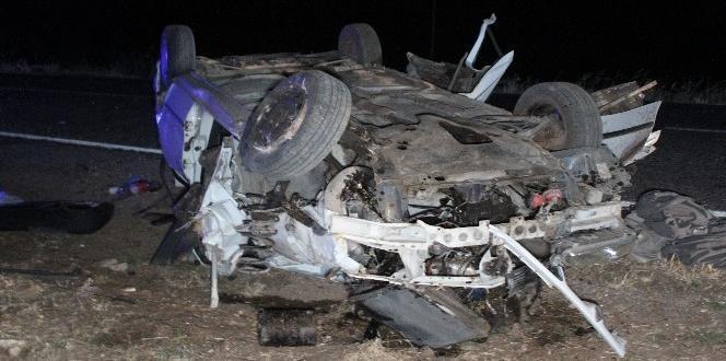 Gaziantep'te taziye dönüşü feci kaza
