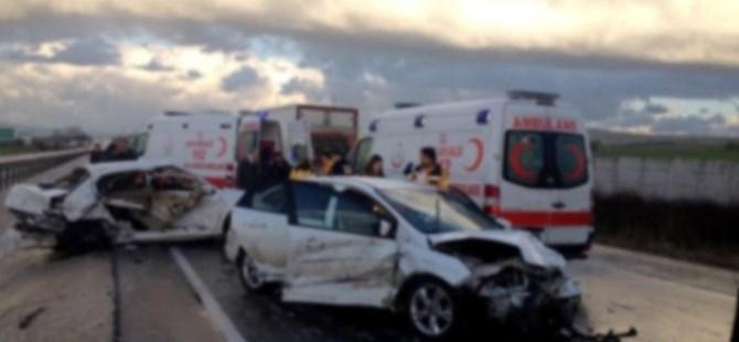 Gaziantep'te 8 araç Şarampole Devrildi