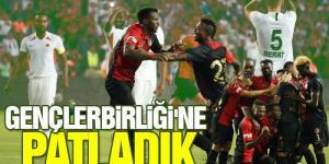 Gençlerbirliği ile karşı karşıya gelen  Gazişehir Gaziantep sahadan 4-1 galip ayrıldı.
