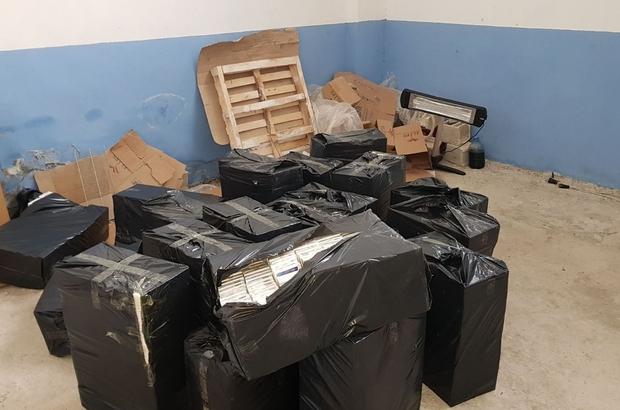 38 bin paket gümrük kaçağı sigara ele geçirildi