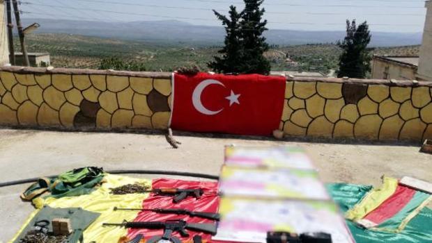 Afrin'in köyünde teröristlerin karargâhı bulundu