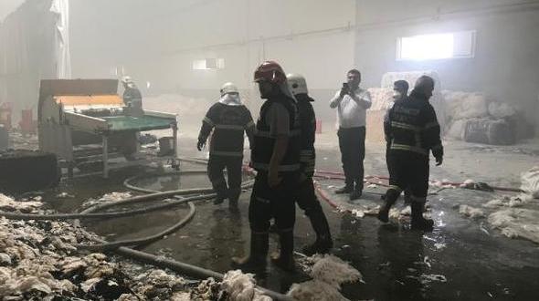 Gaziantepte tekstil fabrikasında yangın