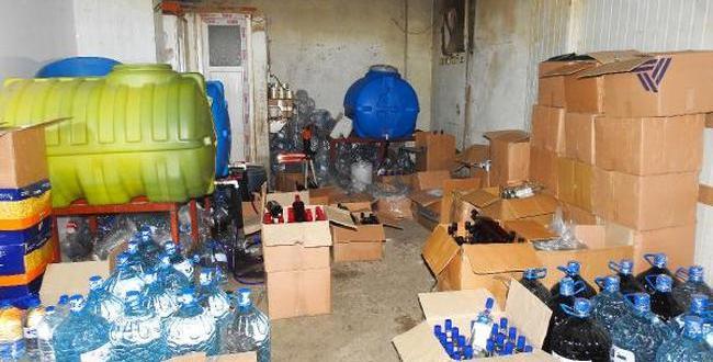 Gaziantep'te Kaçak İçki Operasyonu