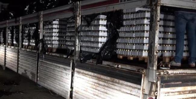 Gaziantep'te 22 Ton 239 Litre Sahte İçki Ele Geçirildi