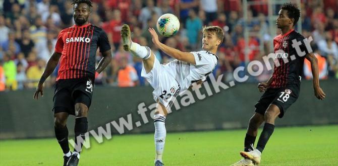 Gazişehir Gaziantep – Beşiktaş maç sonucu: 3-2