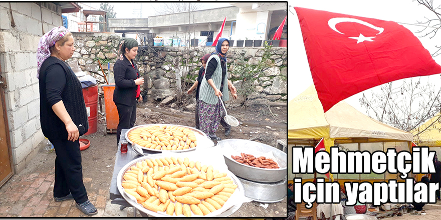Mehmetçikler için yöresel ev yemekleri yaptılar