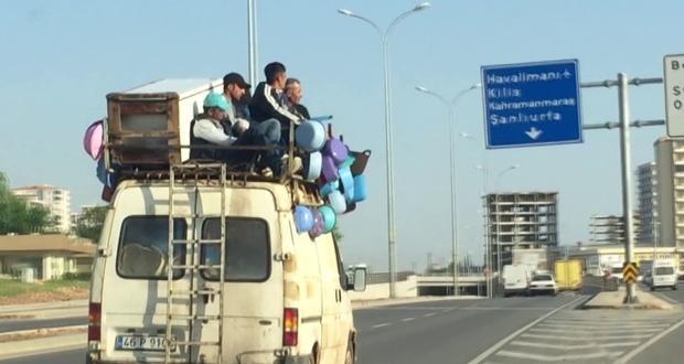 Gökyüzünde Seyahat Gaziantep'te Tehlikeli Yolculuk