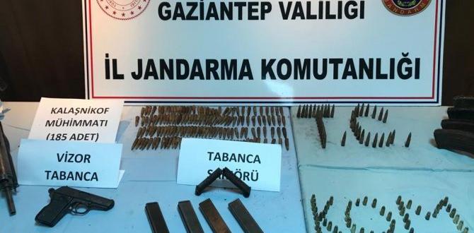 Gaziantep'te silah kaçakçılığı operasyonu 4 gözaltı