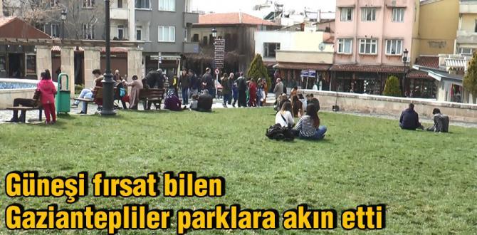 Güneşi fırsat bilen Gaziantepliler parklara akın etti