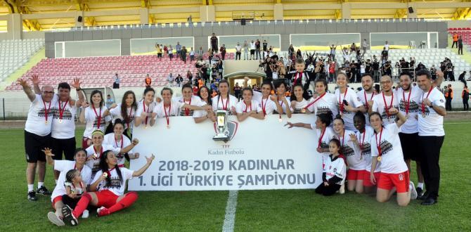 Kadınlar Futbol 1. Ligi'nde Şampiyon Beşiktaş