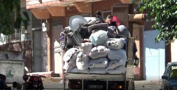 Gaziantep'te Eşyaların Üzerinde Tehlikeli Yolculuk