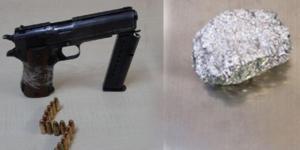 ruhsatsız tabanca ve uyuşturucu madde ele geçirildi