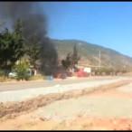 Gaziantep Çiftçinin Tarla Sürdüğü Traktör Alav Alev Yandı