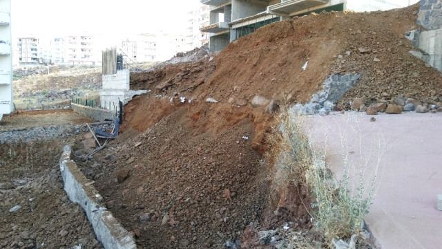 Gaziantep'te İstinat Duvarı Çöktü