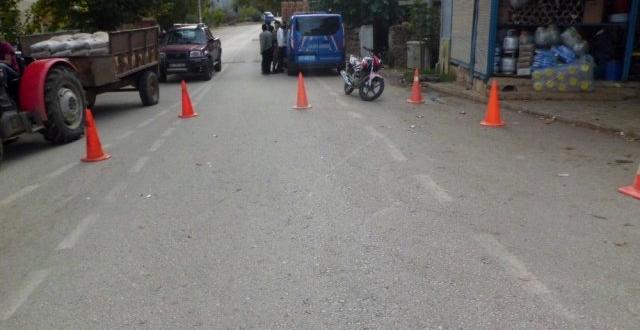 Gaziantep'te motosiklet yayaya çarptı