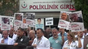 Gaziantep'te Sağlık Çalışanlarına Şiddete Tepki