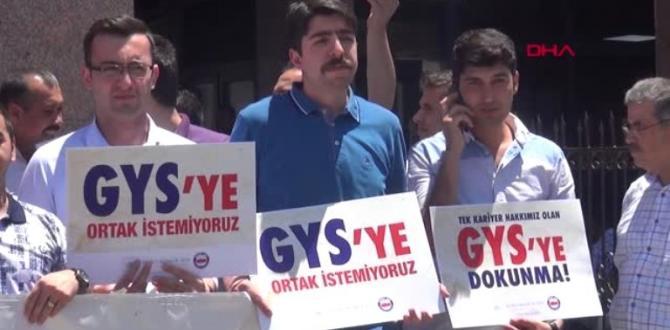 Gaziantep'te, Zabıt Katiplerinden Eylem