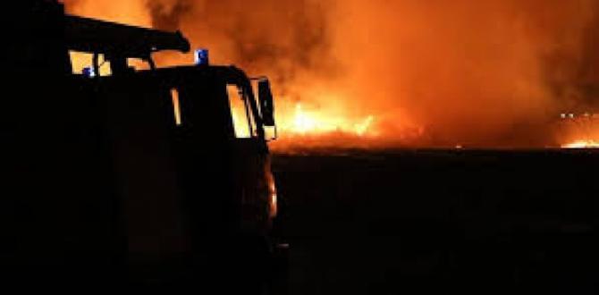 Gaziantep'te Otopark Yangını