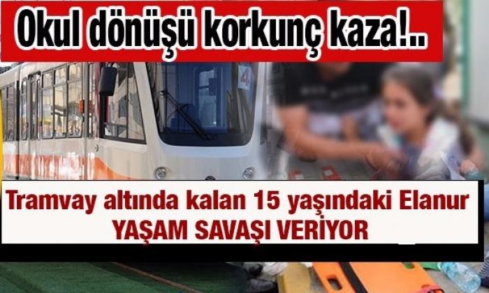 Gaziantep'te Kız Öğrenci Tramvayın altında kaldı.Durumu Ciddi