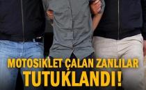 Gaziantep'te Motosiklet Hırsızlığı Zanlıları Tutuklandı