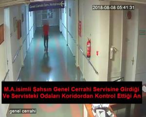 Hastanelere Dadanan Hırsız Güvenlik Kameralarına Yakalandı