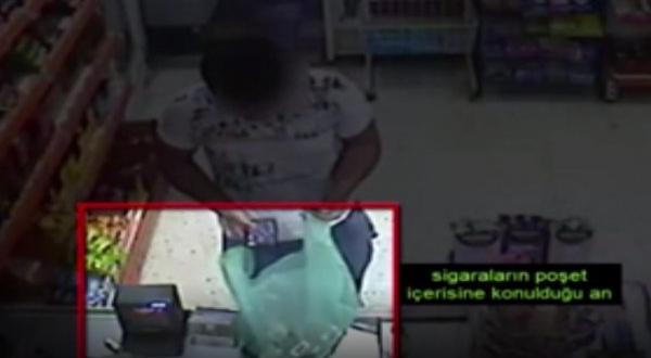 Gaziantep'te Sigara Hırsızlığı Kamerada