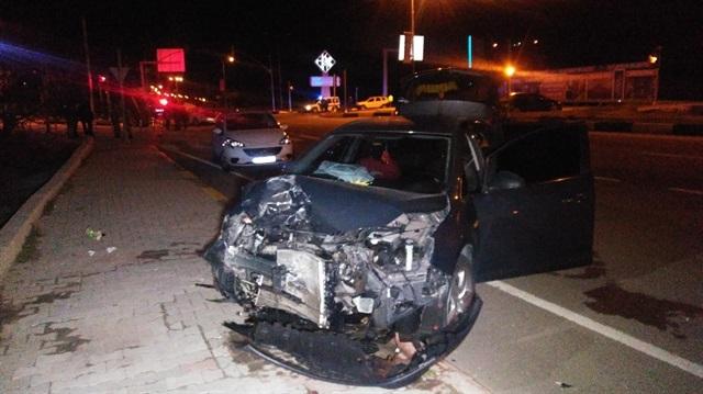 Gaziantep'te 2 araç çarpıştı: 5 yaralı