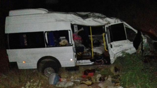 Tarım İşçilerini Taşıyan Minibüs Yoldan Çıktı: 17 Yaralı