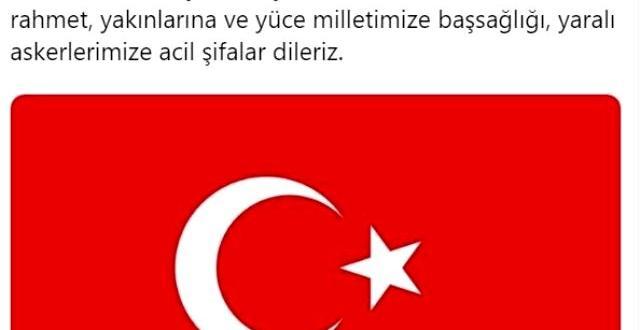 Türk spor kulüpleri, İdlib'deki hain saldırı sonrası başsağlığı mesajı yayınladı.
